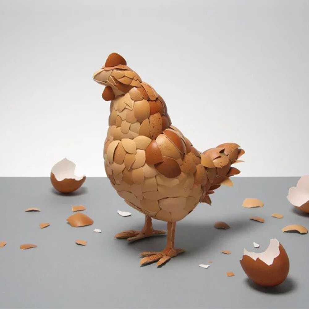 Kerajinan Dari Kardus Bekas Dan Kulit Telur