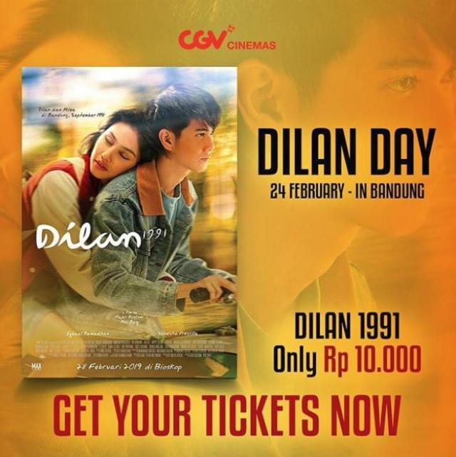Dilan 1991 Ticket Only Rp 10 000 At Cgv February 2019 23 Paskal Shopping Center