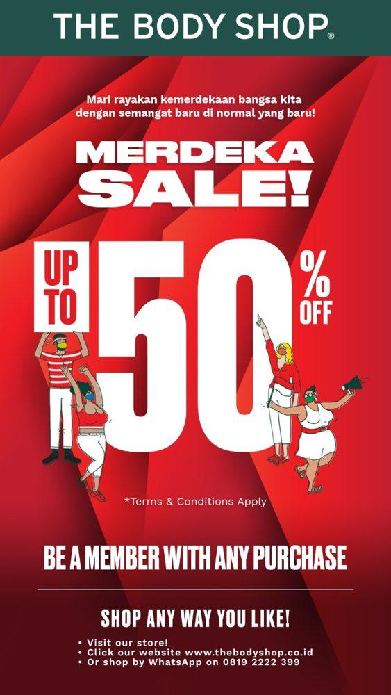 Merdeka Sale Up To 50 Off The Body Shop August 2020 Gotomalls