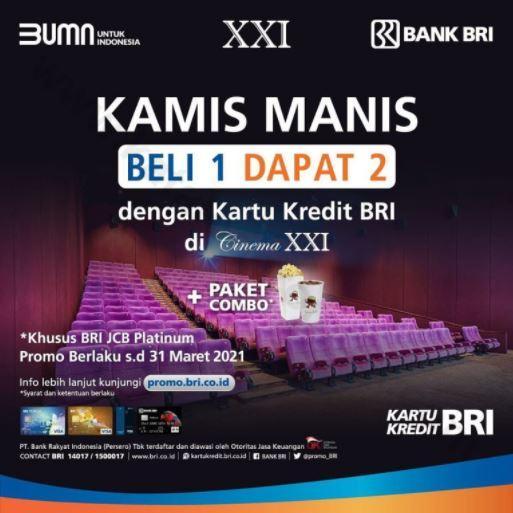 Sweet Thursday With Bri Credit Card At Cinema Xxi January 2021 Lippo Plaza Manado
